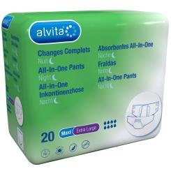 alvita® All-in-One Inkontinenzhosen Maxi Extra Large Nacht