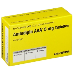 AMLODIPIN AAA 5 mg Tabletten
