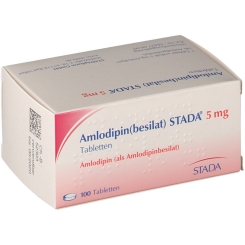 AMLODIPIN besilat STADA 5 mg Tabletten