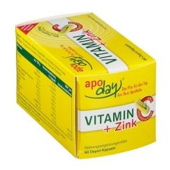 apoday® Vitamin C + Zink Depot Kapseln