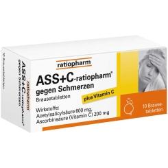 ASS + C-ratiopharm® Brausetabletten gegen Schmerzen
