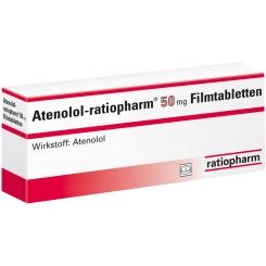 Atenolol ratiopharm 50 Filmtabletten