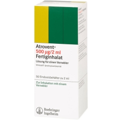 Atrovent 500 ug/2 ml Fert.Inhalat Einzeldosen