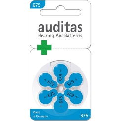 auditas 675 Hörgerätebatterien