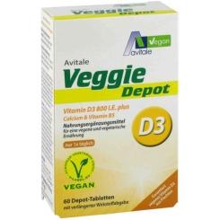 Avitale Veggie Depot Vitamin D3 800 I.E. plus Calcium & Vitamin B5
