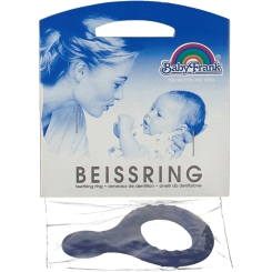 Baby-Frank® Beissring mit Griff blau