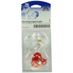 Baby-Frank® Beruhigungssauger 0-6 Monate Kirschform weiß / rot