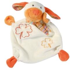 Baby-Frank-Schmusetuch Hund orange
