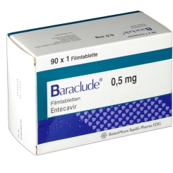 Baraclude 0,5 mg Fimtabletten
