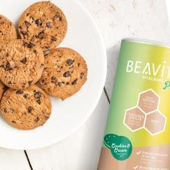 BEAVITA Vitalkost Plus, Cookies-Cream - Mahlzeitenersatz