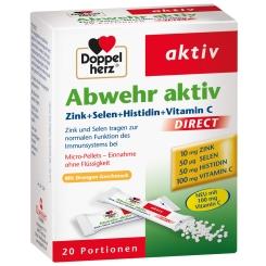 Beigabe Doppelherz® aktiv Abwehr aktiv DIRECT Zink + Selen + Histidin Pellets