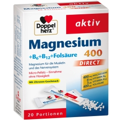 Beigabe Doppelherz® aktiv Magnesium Direct Pellets