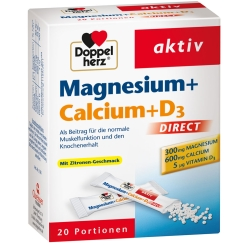 Beigabe Doppelherz Magnesium + Calcium + D3 DIRECT Micro-Pellets
