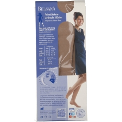 BELSANA 280den Glamour Kniestrumpf Größe medium Farbe perle lang