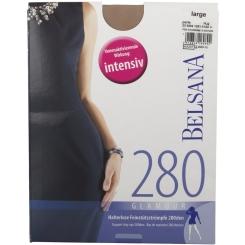 BELSANA 280den Glamour Schenkelstrumpf Größe large Farbe perle normal