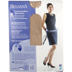 BELSANA 280den Glamour Strumpfhose für Schwangere Größe large Farbe champagner kurz