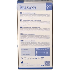 BELSANA Cotton Stützkniestrumpf Gr. 42-44 Farbe denim