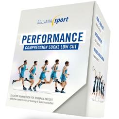 BELSANA Sport Performance Compression Socks Low Cut Gr. 3 (42-44) grau