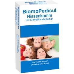 BiomoPedicul® Nissenkamm mit Einmalhandschuhen