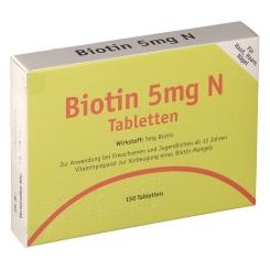 Biotin 5mg N Tabletten