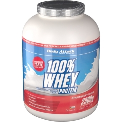 Body Attack 100 % Whey Protein Strawberry Pulver