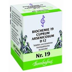Bombastus Biochemie 19 Cuprum arsenicosum D 12 Tabletten