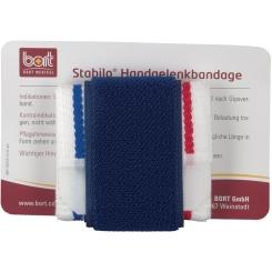 BORT Stabilo® Handgelenkbandage Gr. 1 weiss mit blauen Rand