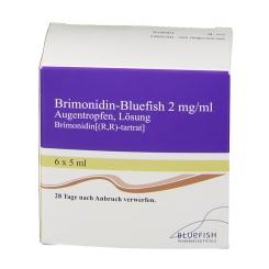 BRIMONIDIN Bluefish 2 mg/ml Augentropfen Lösung