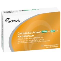 CALCIUM D3 Actavis 1000 mg/880 I.E. Kautabletten