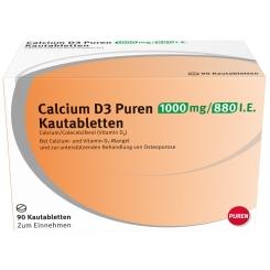 Calcium D3 Puren 1000 mg / 880 I.E.