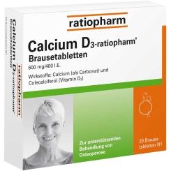 Calcium D3-ratiopharm® Brausetabletten