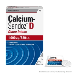 Calcium-Sandoz® D Osteo intens 1000 mg / 880 I.E.