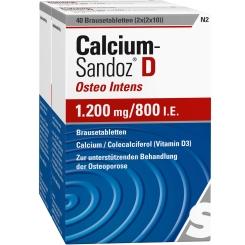 Calcium-Sandoz® D Osteo intens 1200 mg / 800 I.E.
