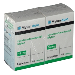 CANDESARTANCILEXETIL Mylan 16 mg