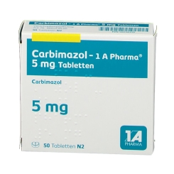 CARBIMAZOL-1A Pharma 5 mg Tabletten