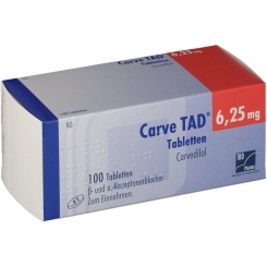 Carve Tad 6,25 mg Tabl.