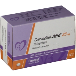 CARVEDILOL Atid 25 mg Tabletten
