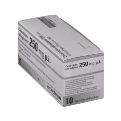 CEFUROXIM ratiopharm 250 mg p.i. Durchstechfl.