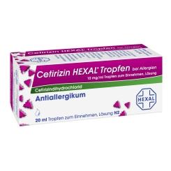 Cetirizin HEXAL® Tropfen bei Allergien, 10 mg/ml Tropfen zum Einnehmen