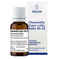 Chamomilla Cupro culta Radix Rh D 3 Dilution
