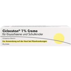 Ciclocutan® 1% Creme für Erwachsene und Schulkinder