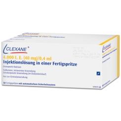 CLEXANE 40 mg 0,4 ml Fertigspritzen m.aut.Sich.Sy.