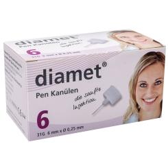 diamet® mySafety Sicherheits-Pen Kanülen 31 G 0,25 x 6 mm