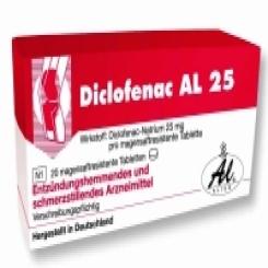 Diclofenac Al 25 Tabletten