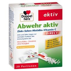 Doppelherz® aktiv Abwehr aktiv DIRECT Zink + Selen + Histidin Pellets