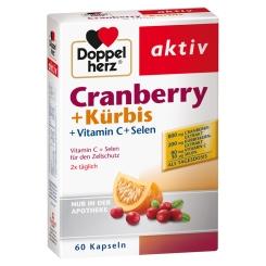 Doppelherz® aktiv Cranberry + Kürbis + Vitamin C + Selen Kapseln