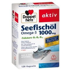 Doppelherz® aktiv Seefischöl Omega-3 1000 mg + Folsäure + B1 + B6 + B12 Kapseln + 20 Sticks aktiv Magnesium GRATIS