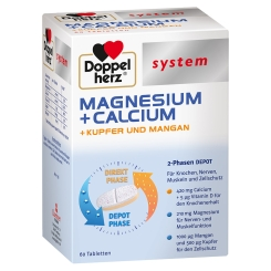 Doppelherz® system MAGNESIUM + CALCIUM + KUPFER UND MANGAN