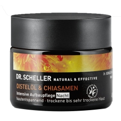 DR. SCHELLER Distelöl & Chiasamen Aufbaucreme Nacht