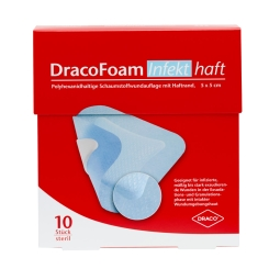 DracoFoam Infekt haft steril 5 x 5 cm